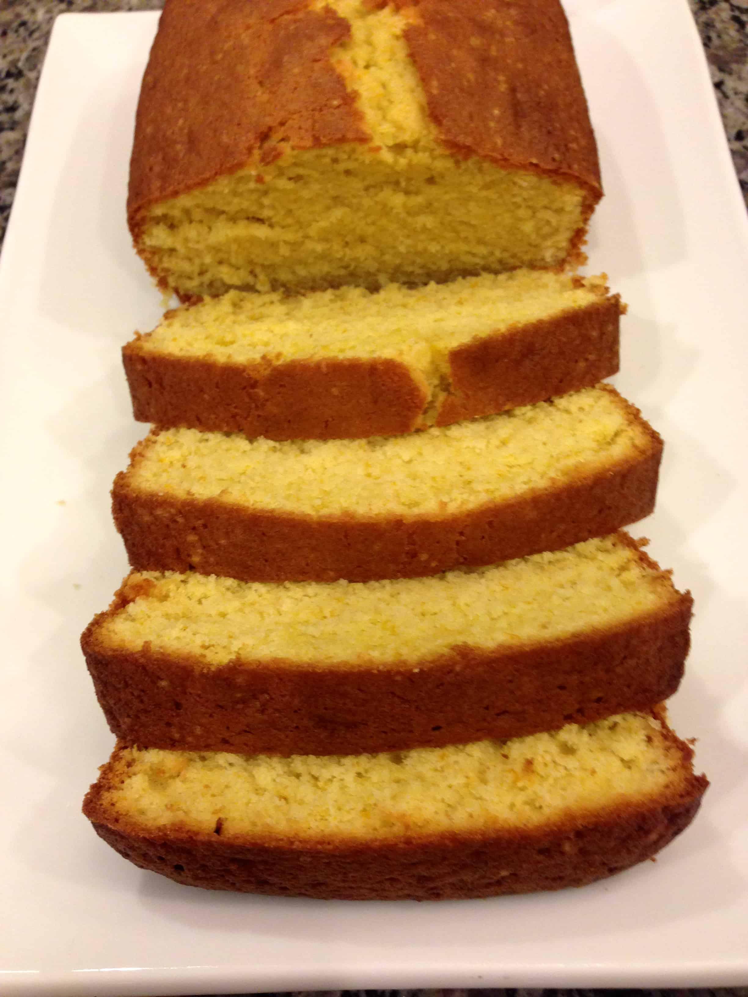 sliced orange pound cake