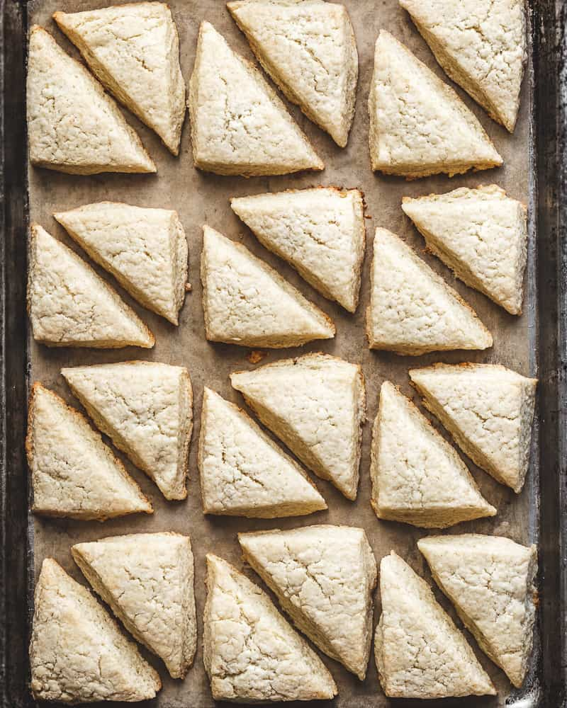 vanilla bean scones before glazing